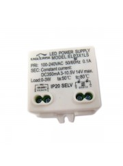 Driver de 3W 350ma IP20 NO Regulable hor