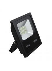 Proyector Led SMD Eco negro 2000Lm IP66 20W