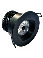 Downlight spot negro luz blanca 95mm 1300Lm 12W